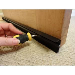 Stormguard Consealed Fixings Brush Door Bottom Strip Draught Excluder - Black 838mm