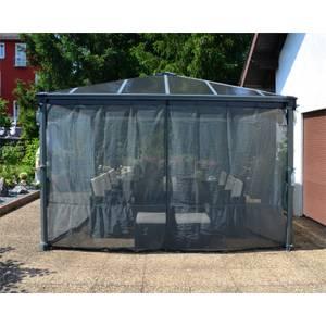 Palram Palermo Garden Gazebo Netting Set - Light Grey