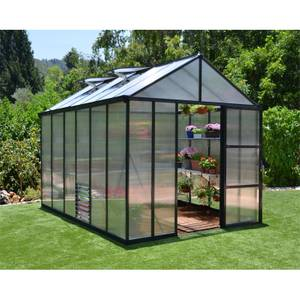 Palram 8 x 12ft Glory Grey Greenhouse