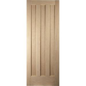 Aston 3 Panel White Oak Veneer Internal Fire Door - 762mm Wide