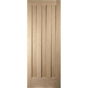 Aston 3 Panel White Oak Veneer Internal Fire Door - 826mm Wide