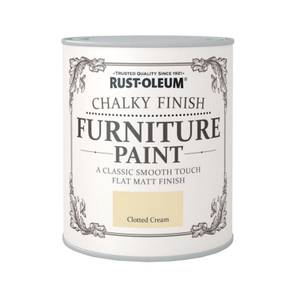 Rust-Oleum Chalky Furniture Paint - Clotted Cream - 125ml