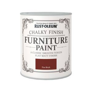Rust-Oleum Chalky Furniture Paint - Fire Brick - 750ml