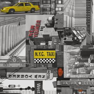 Fablon Sticky Back Plastic - City Taxi - 450mm x 2m