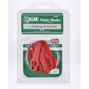 ALM Plastic Lawnmower Blades for Sovereign Hover Plastic