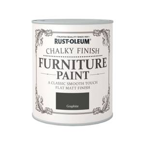 Rust-Oleum Chalky Furniture Paint - Graphite - 750ml