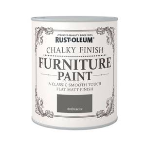 Rust-Oleum Chalky Furniture Paint - Anthracite - 125ml