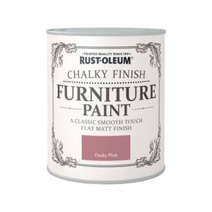 Rust-Oleum Chalky Furniture Paint - Dusky Pink - 750ml