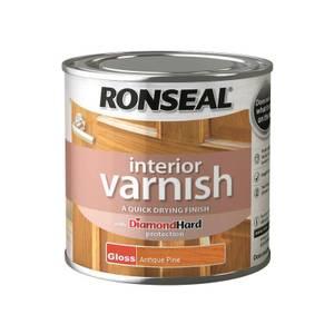 Ronseal Interior Varnish Gloss Antique Pine - 250ml