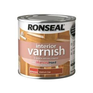 Ronseal Interior Varnish Gloss Medium Oak - 250ml