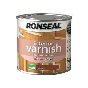 Ronseal Interior Varnish Matt Dark Oak - 250ml