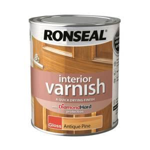 Ronseal Interior Varnish Gloss Antique Pine - 750ml