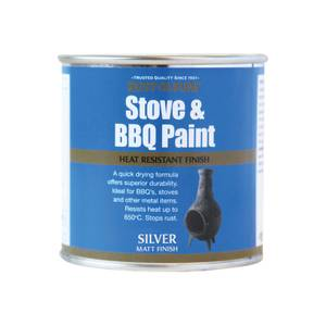 Rust-Oleum Stove & BBQ Silver Paint - 250ml