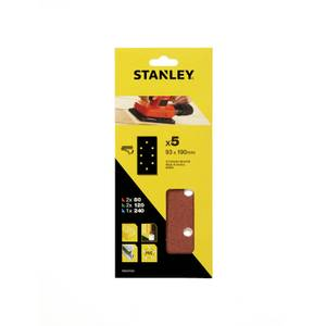 Stanley 1/3 Sheet Sander Mixed Hook & Loop Sanding Sheets - STA31532-XJ