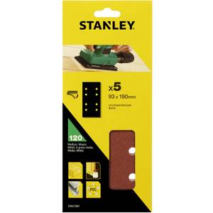 Stanley 1/3 Sheet Sander 120G Hook & Loop Sanding Sheets - STA31587-XJ