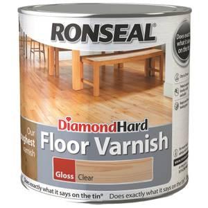 Ronseal Diamond Hard Floor Varnish Gloss Clear- 2.5L