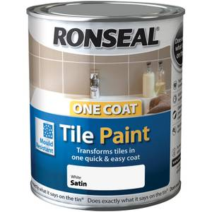 Ronseal Pure Brilliant White - One Coat Tile Paint - 750ml