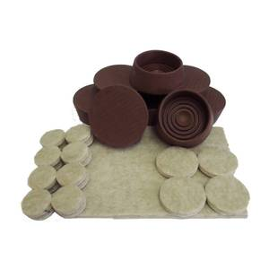 Felt Pads And Castor Cups - 29 Pack
