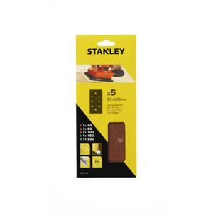 Stanley 1/3 Sheet Sanding Punched Wire Clip Mixed Sanding Sheets - STA31176-XJ