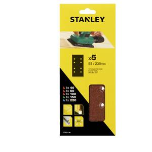 Stanley 1/3 Sheet Sander Mixed Wire Clip Sanding Sheets