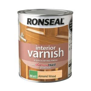 Ronseal Interior Varnish Matt Almond - 750ml