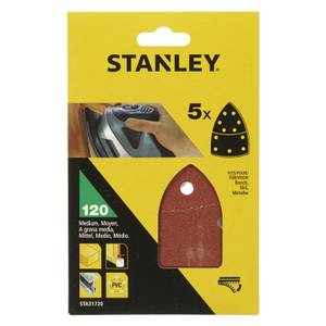 Stanley Detail Sander Sheets 120G - STA31720-XJ