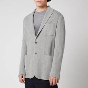 Canali Men's Slim Fit Jersey Cardigan Blazer - Grey