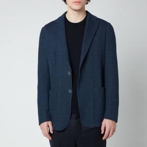 Canali Men's Slim Fit Jersey Cardigan Blazer - Dark Blue