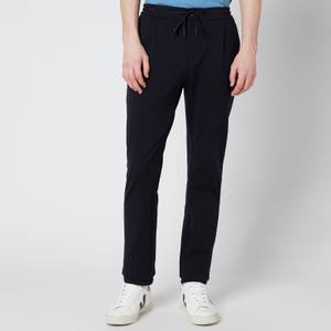 Canali Men's Drawstring Jersey Trousers - Navy