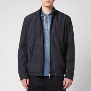 Canali Men's Zip Through Tech Waterproof Jacket - Navy Blue