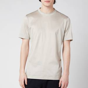 Canali Men's Double Collar Crewneck T-Shirt - Stone