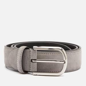 Canali Men's Suede Belt - Grey