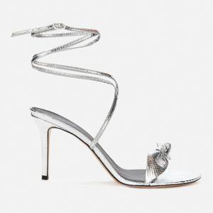 Isabel Marant Women's Alt Metallic Leather Heeled Sandals - Silver