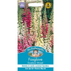 Mr. Fothergill's Foxglove Excelsior Mixed (Digitalis Purpurea) Seeds