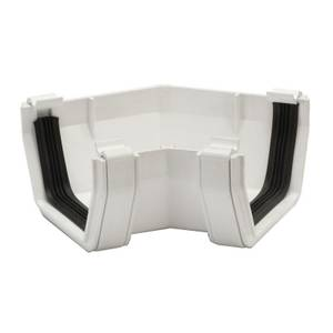 Polypipe Square Gutter Angle - 112mm x 135 Degree - White