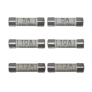 Arlec Mixed Amp Fuse 5A, 10A, 13A 6 Pack