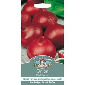 Mr. Fothergill's Onion Red Baron (Allium Cepa) Bulbs