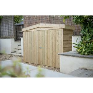 Forest (Installation Included) Wooden Apex Large Outdoor Store