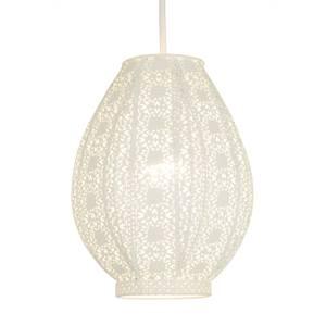 Zahara Teardrop Easy Fit Lamp Shade - Cream