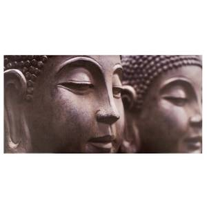 Buddha Heads Outdoor Canvas