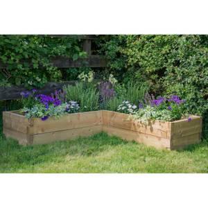 Forest Garden Wooden Caledonian Corner Raised Bed