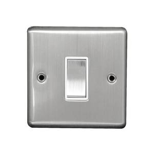 Arlec Metal Screwed 10 Amp 1 Gang 2 Way Switch Stainless Steel