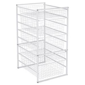 5 Wire Baskets Storage Tower