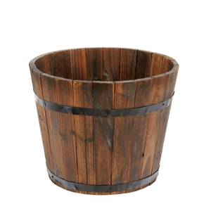 Wooden Barrel Plant Pot - 30cm