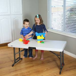 Lifetime Folding Adjustable Table - 4ft
