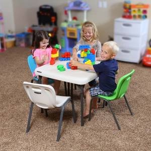 Lifetime Children's Stacking Chair - Lime Green (Pack of 4)