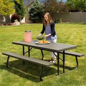 Lifetime 6ft Classic Folding Picnic Table - Brown