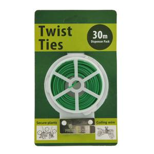 Whites Twist Tie Single Pack - Green / 30m