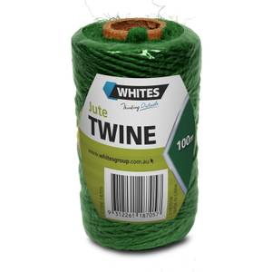 Whites Jute Garden Twine - Green / 100m