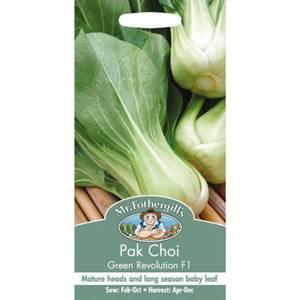 Pak Choi Green Revolution F1 (Brassica Rapa Chinensis) Seeds